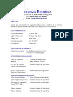 Currículum Vitae Lorenza Ramirez