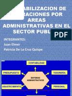 CONTABILIZACION DE OPERACIONES POR AREAS ADMINISTRATIVAS EN EL