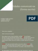 Habilidades Comunicativas (Forma Escrita)