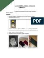 Informe de Solubilizacion de Polímeros