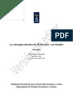 La estrategia educativa de El Salvador