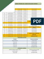 CRONOGRAMA ACADEMICO 2020-1 SP -Final