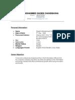 Shoeb Resume