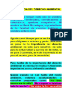 IMPORTANCIA DEL DERECHO AMBIENTAL