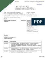 APPALACHIAN INSURANCE COMPANY v. INSURANCE COMPANY OF NORTH AMERICA Docket