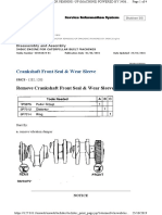 3406 Crankshaft front seal and wear sleeve