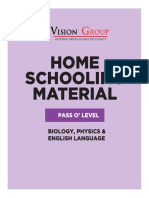 HOME SCHOOLING MATERIAL - Pass O' Level (Biology, Physics & English Language)(4th June 2020)