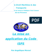 La Mise en Application Du Code ISPS