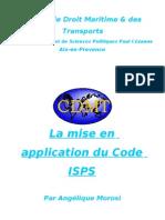 La Mise en Application Du Code ISPS