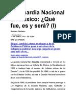 La Guardia Nacional en México