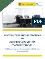 Directrices de Buenas Prácticas en Actividades de Gestión y Administración 26.05.20
