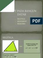 SUDUT PADA BANGUN DATAR