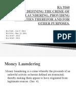 RA 9160 Money Laundering