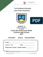 Guía 4 -Cuarto medio - lenguaje y com - PIE
