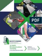 Miles Cleaning cégismertető kiadvány