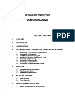 Method Statement for Pump Installations