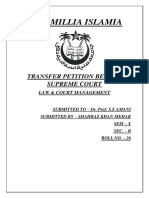 Transfer Petition to Supreme Court.