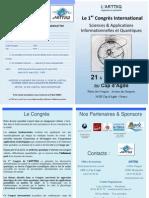 Le 1er Congrès International Sciences & Applications Informationnelles et Quantiques