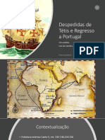 Despedidas de Tétis e Regresso a Portugal