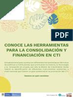 Herramientas para la consolidación y financiación en CTI