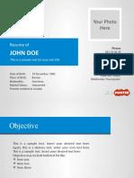 Powerpoint Template (Cv Template)