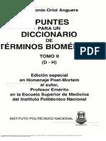 Apuntes para un diccionario de términos biomédicos II