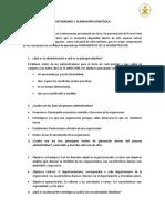 CUESTIONARIO PLANEACIÓN ESTRATEGICA