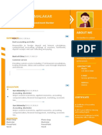 Orange Flat Resume-WPS Office