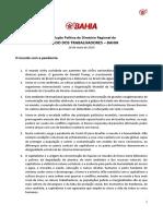 Resolução Política DR PT Bahia 16.05.2020
