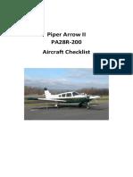 PA28R-200 Checklist