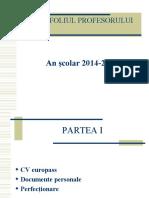 Portofoliul profesorului 2014-2015