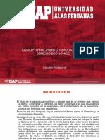 SEMANA I - CONCEPTO, NACIMIENTO Y EVOLUCION DEL DERECHO ECONOMICO