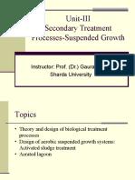 Unit-III-Secondary Treatment
