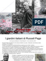 Pietropaolo Cannistraci - Russell Page in Italia