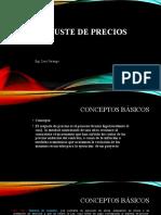 REAJUSTE DE PRECIOS