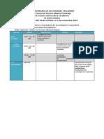 CRONOGRAMA DE ACTIVIDADES  SEMANALES