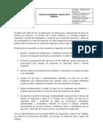 AWES-SST-DOC-01 POLITICA SEGURIDAD Y SALUD EN EL TRABAJO