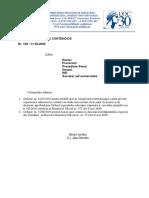 adresa inaintare act normativ 2020