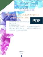 CAPITULO II DE LA LEY 29414 SUB CAPITULO I Y II