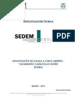 Especificacion Tecnica Explotacion de Caracollo 15 Marzo 2019_0