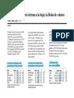 Los índices de Perú  baja