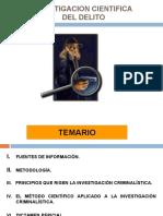 INVESTIGACION CIENTIFICA DEL DELITO