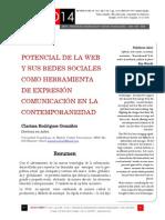 Icono14. A9/V1. Potencial de la web y sus redes sociales como herramienta de expresión comunicación en la contemporaneidad