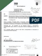 INSTRUCTIVO PARA EL MANEJO DE FICHAS DE DESCRIPCIÓN MACROSCÓPICA DE MUESTRAS DE ROCAS