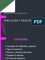 POBLACIÒN Y MUESTRA NEW