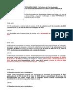EDITAL 3 - Doutorado Sanduiche no exterior 2020 - RET - 2