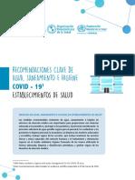 WHO-2020-cde-key-recom-healthcare-facilities-water-covid-19-es
