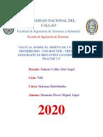 MANUAL SOBRE EL DISEÑO DE UN SISTEMA DISTRIBUIDO - USO ROUTER - TRES ZONAS GEOGRAFICAS DISTANTES USANDO PACKET TRACER 7.3