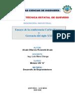 ensayo de  CONFERENCIA y gerencia del siglo XXI Rosmeld Alcala.doc