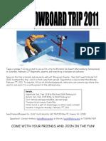 SKI TRIP 2011 Registration Form Packet